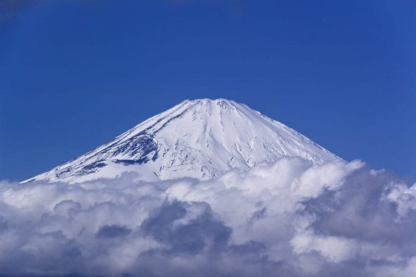 mount Fuji during our first time in Japan