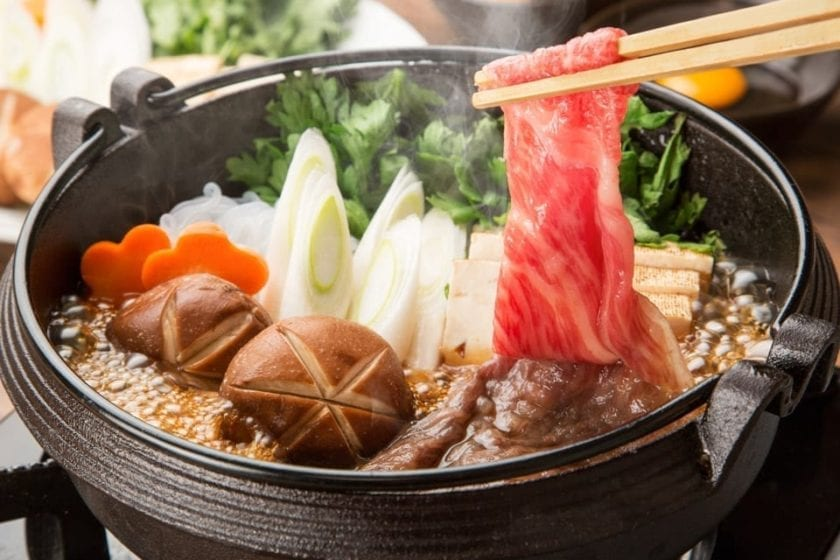 A picture of sukiyaki, perhaps a bit less well-known, but fabulous Japanese dish.