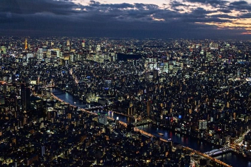 Tokyo skyline as seen from Tokyo Skytree - a perfect way to finish the trip to Tokyo
