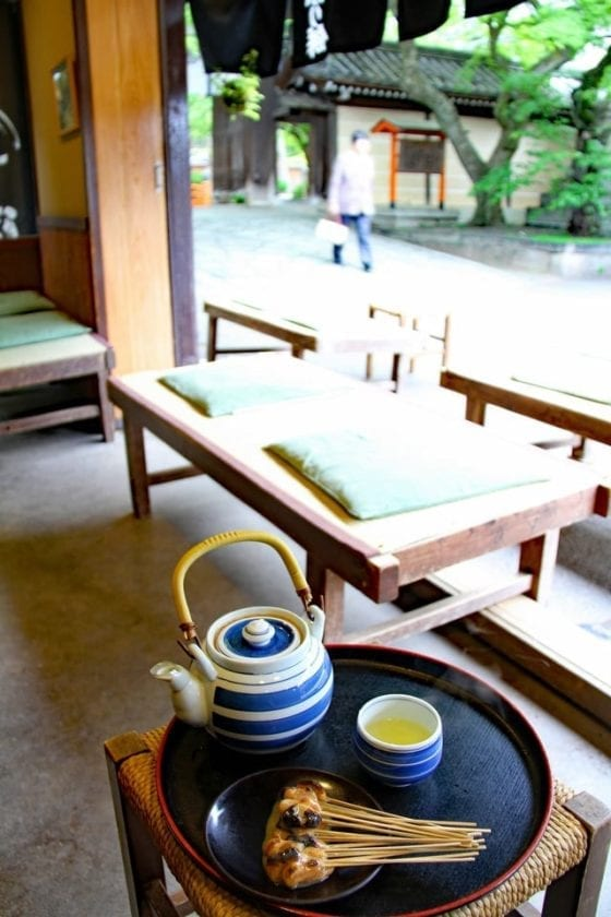 a view from a cafe in kyoto
