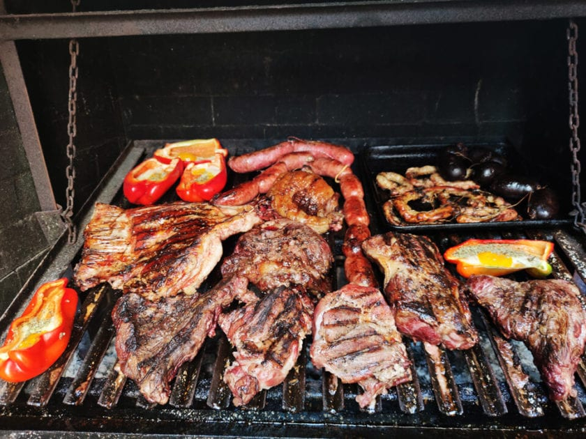 argentinian mixed grill - a selection of meats and vegetables cooked on a grill