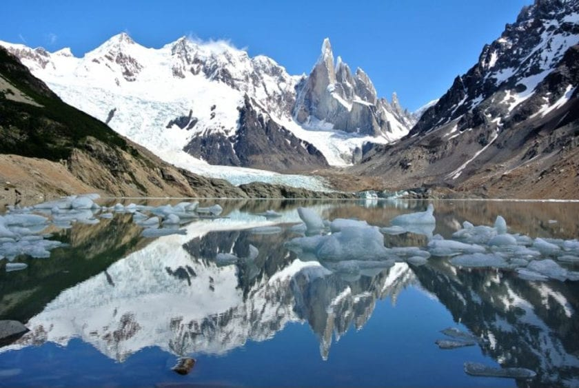 Laguna Torre - one of the best day hikes from El Chalten