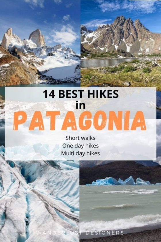Best hikes in Patagonia | 14 of the best hikes in Patagonia in one article - short hikes below 3h long, full day hikes and multi-day treks in Patagonia, all of which offer the best views possible. | What to do in Patagonia | Patagonia hiking | hiking trails in Patagonia | El Chalten | Torres del Paine | Los Glaciares National Park | Huemul circuit | Los dientes de Navaglio | Laguna de los Tres | Perito Moreno | glacier hikes | #patagonia #hiking #trekking #argentina #chile #travel