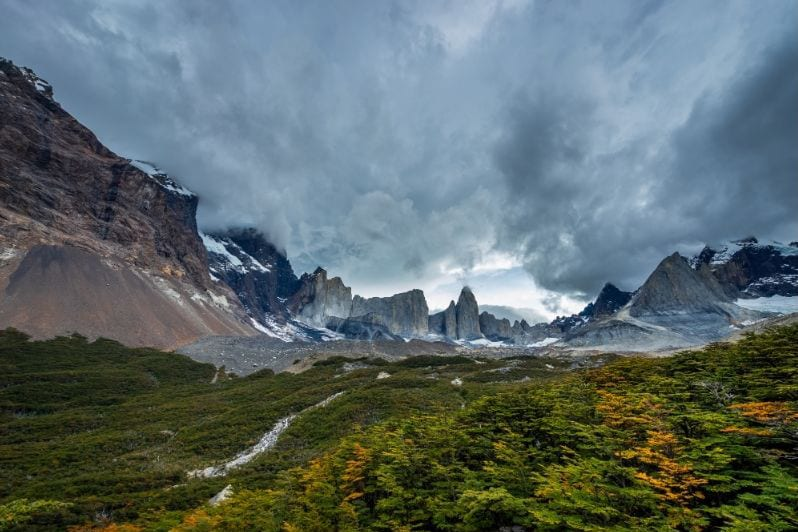 Valle Frances in Torres del Paine National Park - seen while trekking the W trek, on of the best hikes in Patagonia