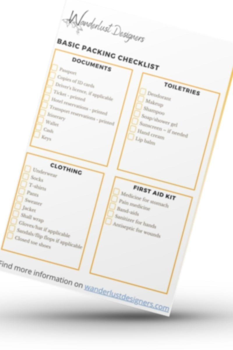 packing checklist image for popup